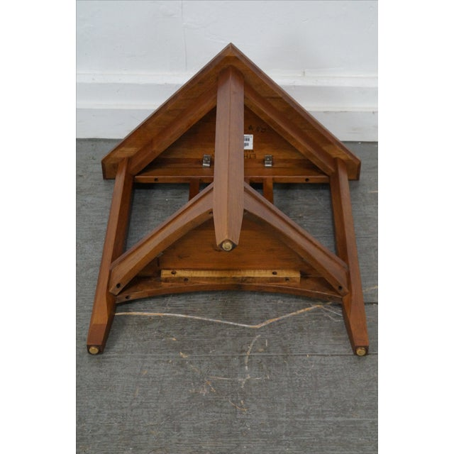 Ethan allen new impressions solid cherry triangle corner table ethan allen new impressions solid cherry triangle corner table image 10 of 10 watchthetrailerfo
