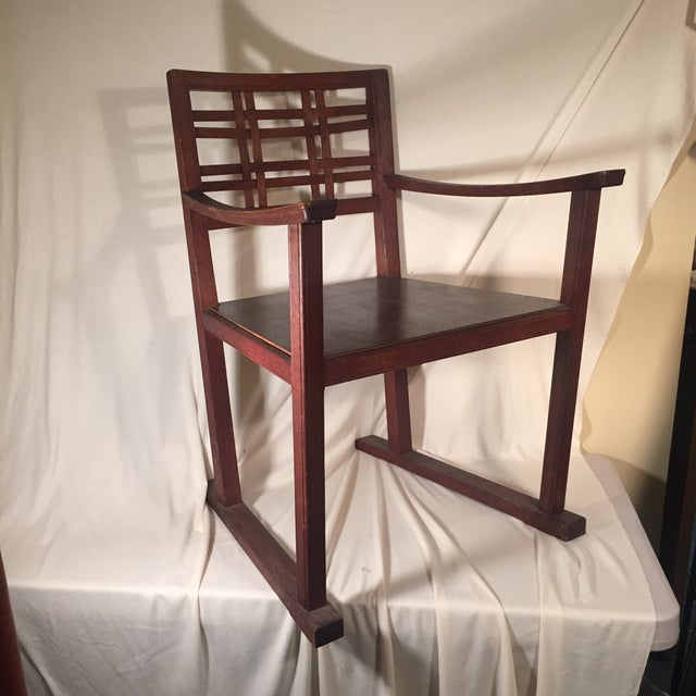 Modernist Oak Armchair - Image 2 of 6