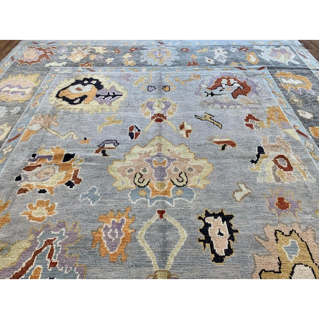 """2010s Turkish Oushak Rug-9'x12'6"""" For Sale - Image 5 of 10"""