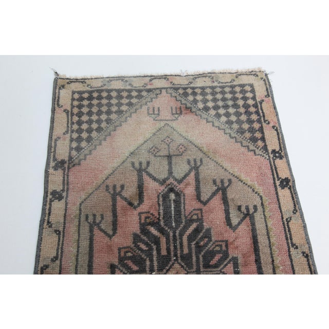 Islamic 1960s Vintage Turkish Handmade Rug - 1′7″ × 2′9″ For Sale - Image 3 of 11