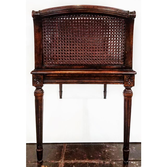 Wood Antique Carved and Caned Window Settee With Neoclassic Motifs For Sale - Image 7 of 10