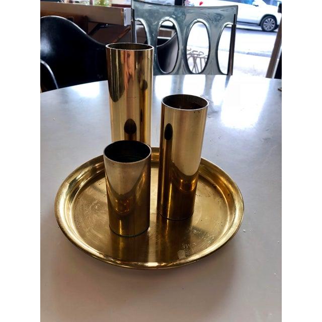 1970s Vintage Brass Votive Holder Set - 4 Pieces For Sale - Image 4 of 4
