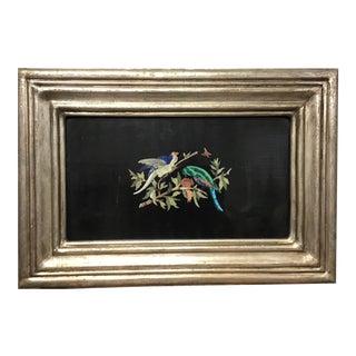 Italian Pietra Dura Bird Plaque #1 For Sale