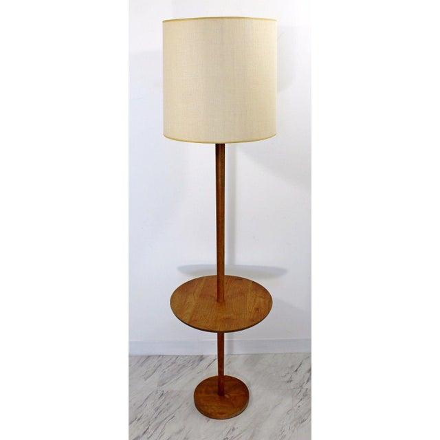 Mid Century Modern Danish Teak Floor Lamp Table Chairish