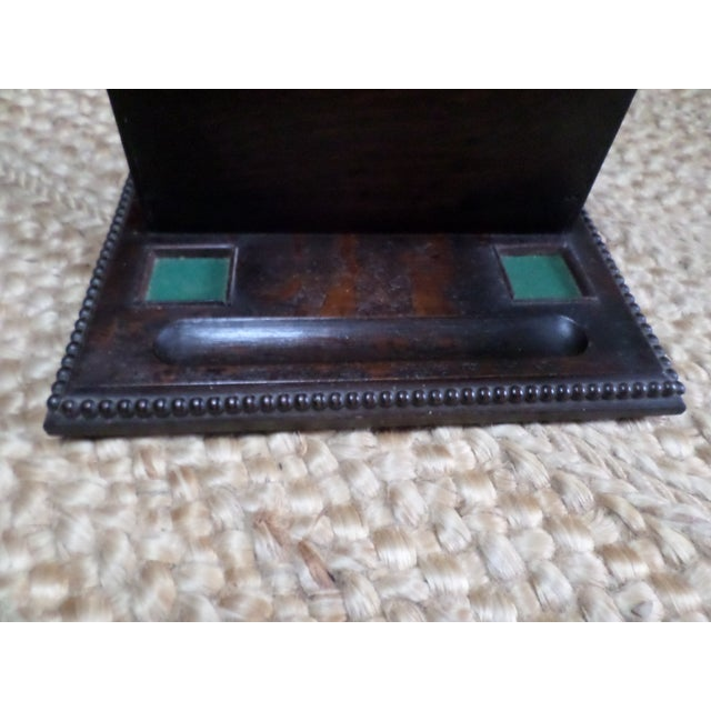 English Oak Letterbox and Inkstand For Sale - Image 11 of 13