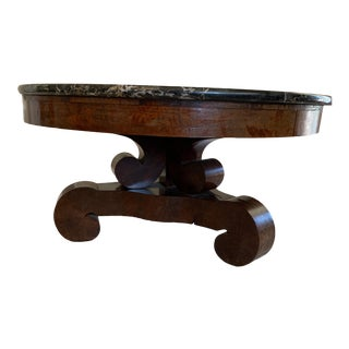 Empire Style Marble Coffee Table For Sale