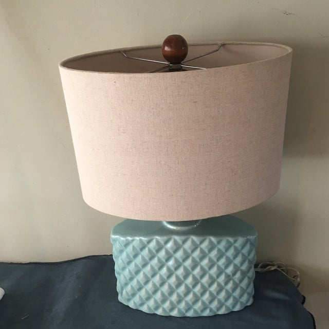 Automax Mid Century Turquoise Lamp - Image 3 of 6
