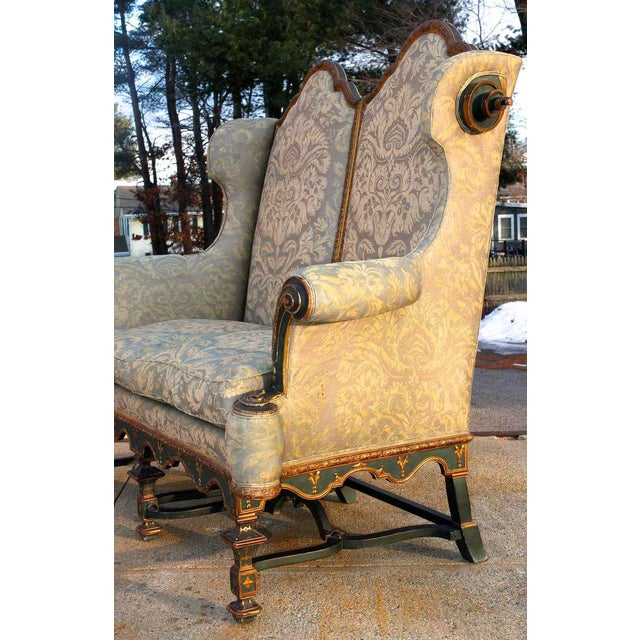Fantastical Fortuny Gothic Settee For Sale - Image 4 of 5