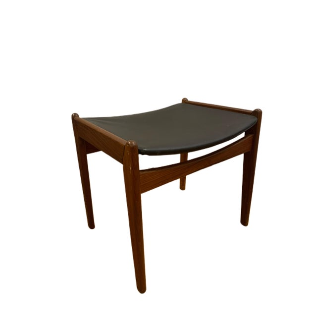 1960's Rare Danish Modern Footstool For Sale - Image 10 of 12