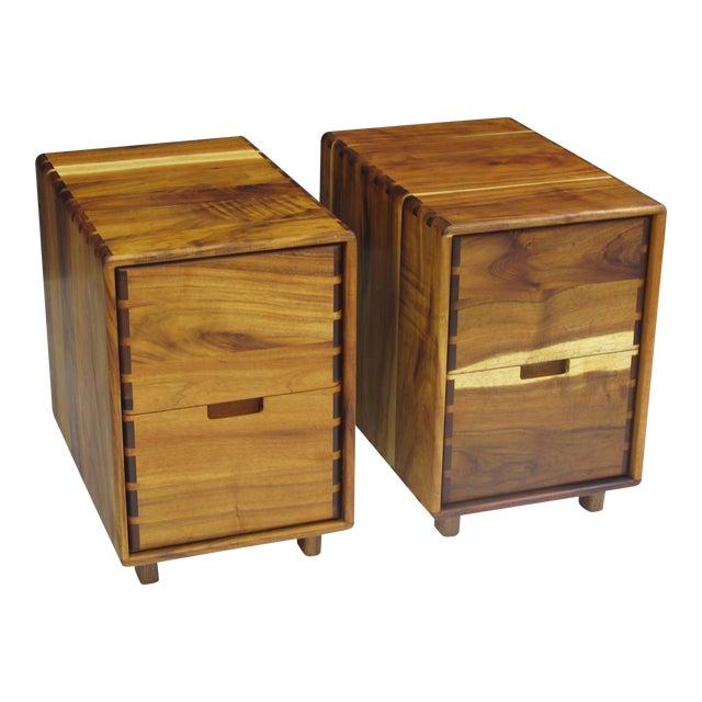 Jim Sweeney Koa Filing Cabinets - a Pair For Sale