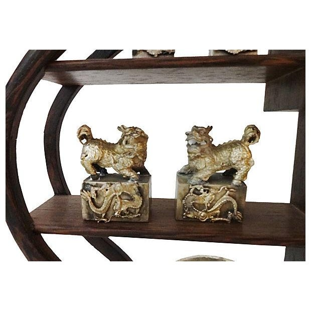 10-Piece Miniature Wood Stand & Decor Set - Image 5 of 7