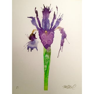 """Purple Iris"" Watercolor Painting For Sale"