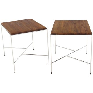 Mid-Century Modern Z-Base Side Tables - a Pair For Sale