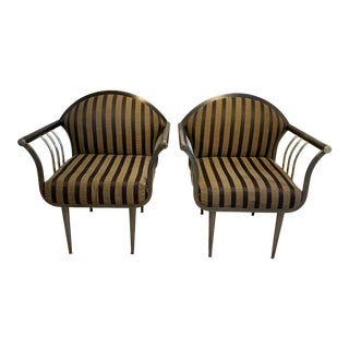 1980s Vintage Pierre Cardin Style Arm Chairs - a Pair For Sale
