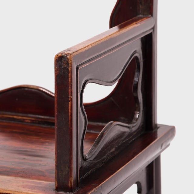 19th Century Chinese Rose Chairs - a Pair For Sale - Image 11 of 12