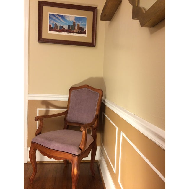 Purple 1990s Vintage Baker Chair For Sale - Image 8 of 11