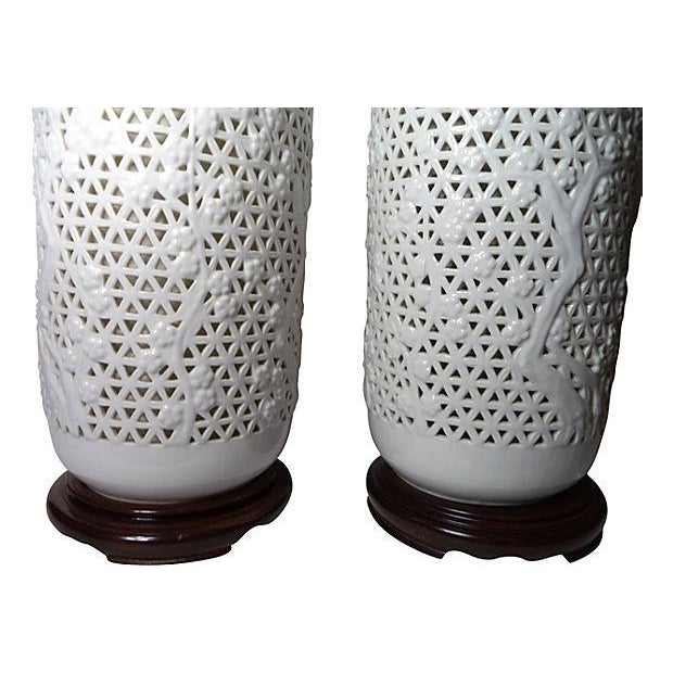 Oversized Blanc De Chine Lamps - Pair - Image 3 of 5