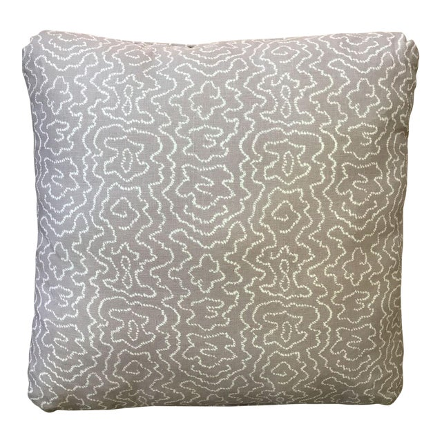 Pale Lavender Squiggle Print Pillow - Image 1 of 4