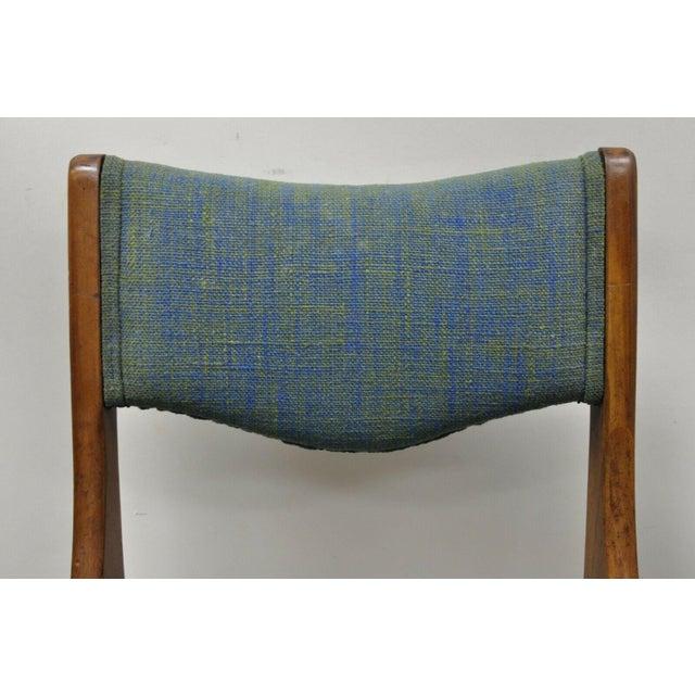 Mid-Century Modern Drexel Dateline John Van Koert Walnut Mid Century Modern Dining Side Chair (A) For Sale - Image 3 of 12
