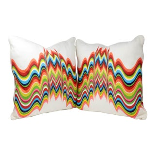 "Newly Made Jonathan Adler ""Distorted Prism"" Pillows - a Pair For Sale"