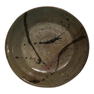 1980s Mid-Century Modern Studio Pottery Charger For Sale