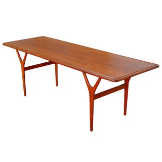 Mid-Century Teak Coffee Table by Kurt Østervig for Jason Møbler For Sale