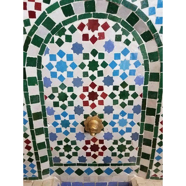 Very typical colorful Moroccan mosaic mini fountain handmade in Morocco. This fountain is usually found in courtyards and...
