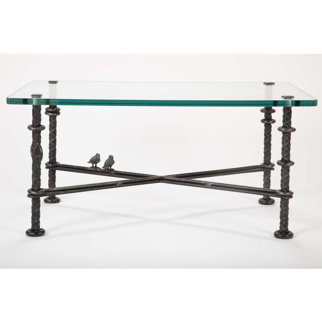 Metal Patinated Wrought Iron Coffee Table by Llana Goor For Sale - Image 7 of 13