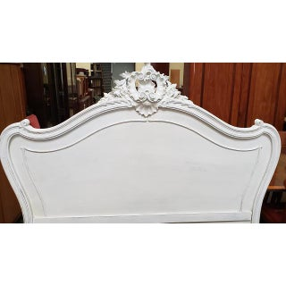 Painted French Walnut Louis XV Style Bed Frame C.1850 Preview