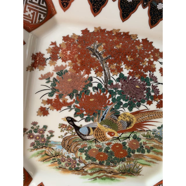 Japanese 1970s Japanese Decorative Peacock Plate For Sale - Image 3 of 8