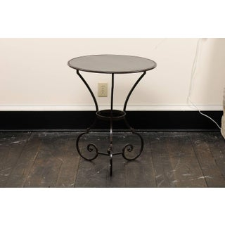 Pair of Petite Round Scrolling Steel Metal Bisto or Guéridon Tables Preview