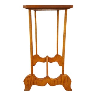 Tiger Maple Folk Art End Table For Sale