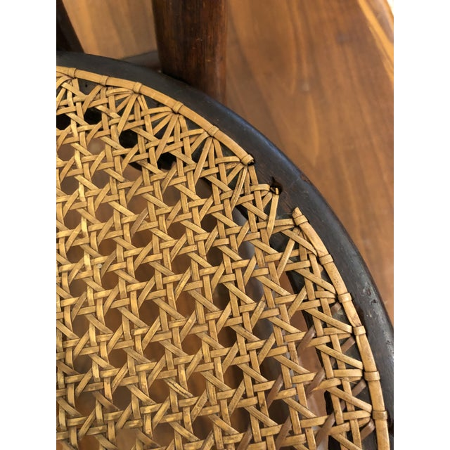 Late 20th Century Vintage Thonet Bentwood Childs Cane Set Rocker For Sale - Image 12 of 13