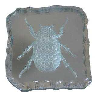 Mid-Century Modern Glass Bug Coaster