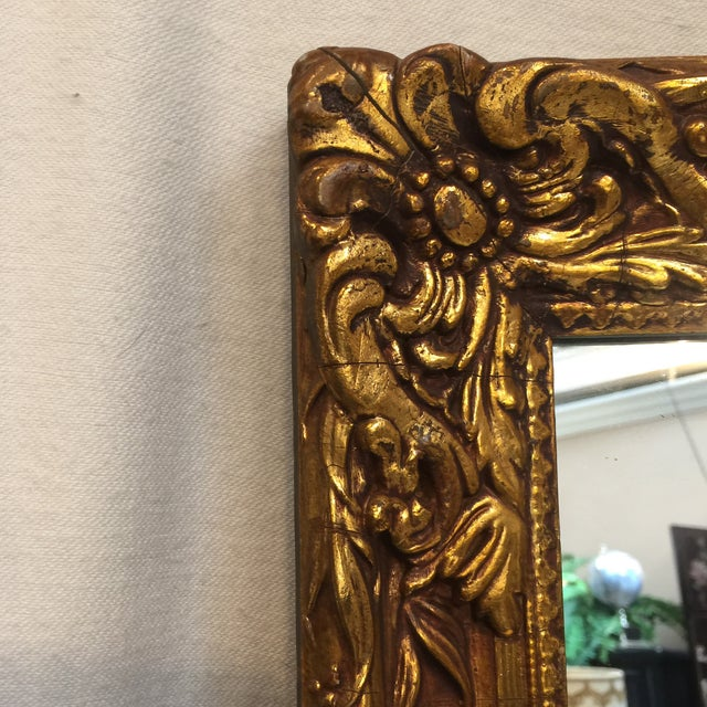 Traditional Carved Gold Gilded Mirror - Image 5 of 9