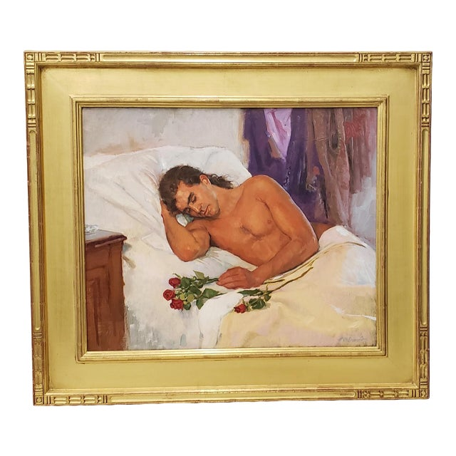 Bob Gerbracht (American, 1924-2017) Original Oil Portrait of a Young Man For Sale