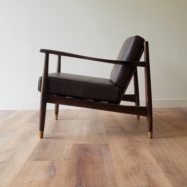 Mid-Century Modern 1960s Newly Upholstered Folke Ohlsson Lounge Chair For Sale - Image 3 of 13