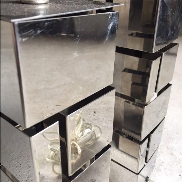 Laurel Lamp Co. Architectural Metal Lamps - A Pair - Image 5 of 6