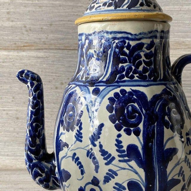 1920s Mexican Tea Pots & Creamer - Set of 2 For Sale - Image 10 of 13