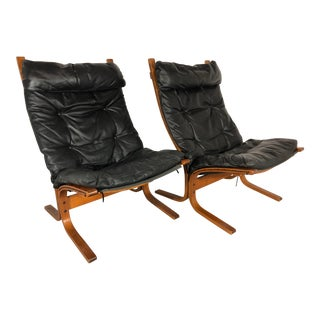 """Pair of Ingmar Relling for Westnofa High Back """"Siesta"""" Chairs, 1960s For Sale"""