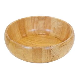 Vintage 1970s Wood Bowl For Sale