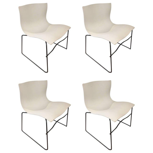 White Knoll Handkerchief Chairs - Set of 4 - Image 5 of 5