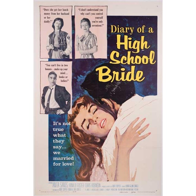 Diary of a High School Bride 1959 Poster - Image 1 of 2