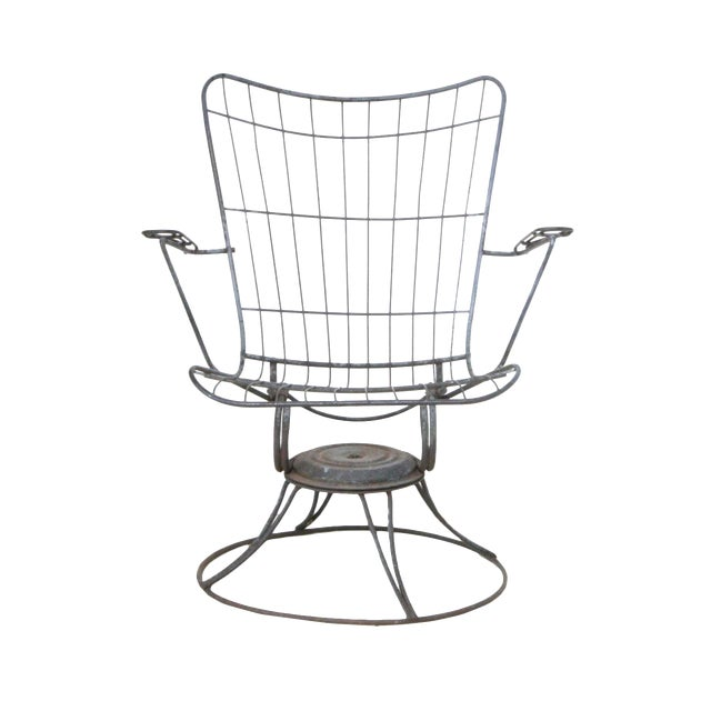 Mid-Century Modern Wire Patio Chair Frame - A Pair - Image 1 of 5