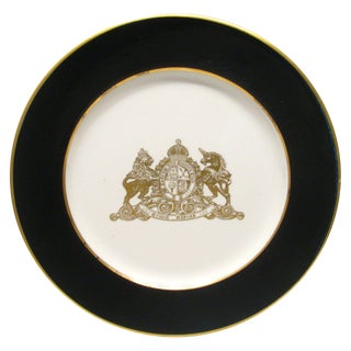 Armorial Country Club Plate For Sale