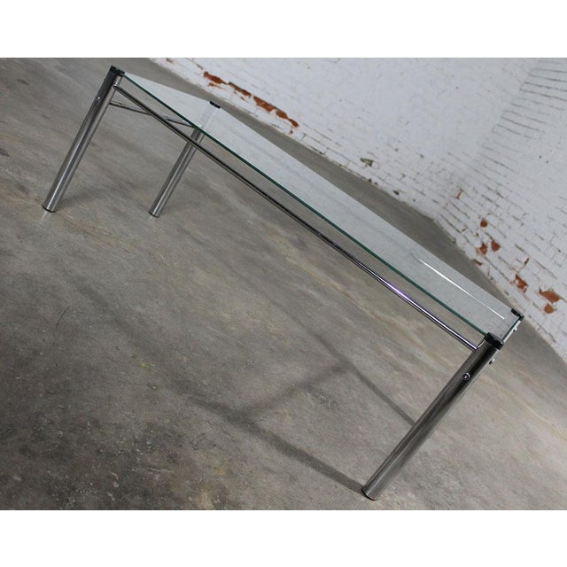 James David Furniture Attributed Chrome & Glass Coffee Table - Image 3 of 12