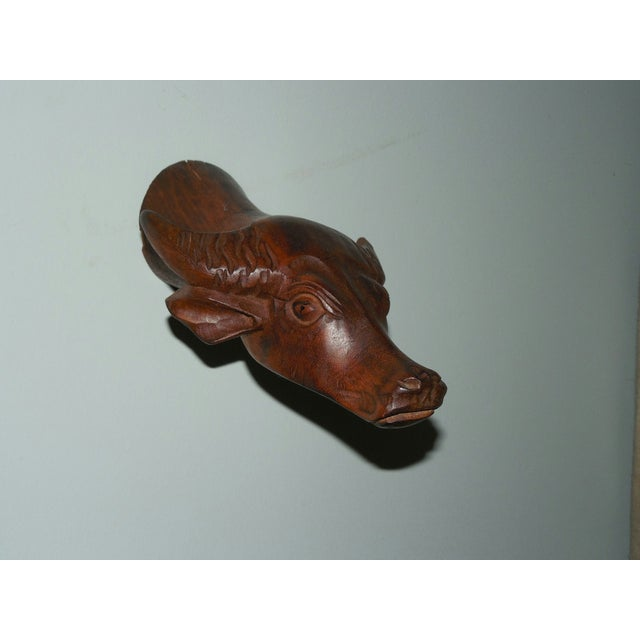 Carved Wood Chinese Zodiac Mounts - Image 9 of 9