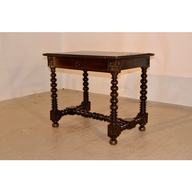 18th Century Walnut Side Table For Sale - Image 4 of 10
