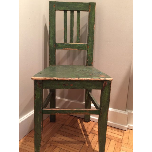 1900s Antique European Wooden Side Chair For Sale In Chicago - Image 6 of 6