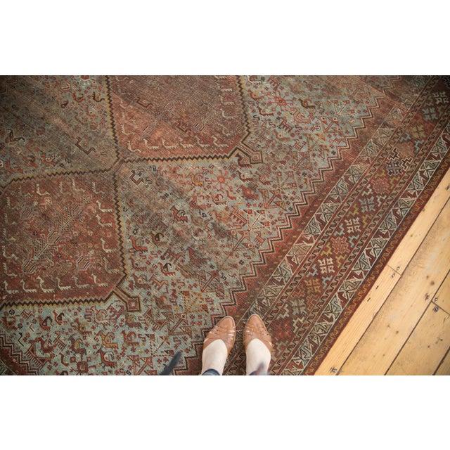 "Vintage Shiraz Carpet - 6'10"" X 9'9"" For Sale - Image 4 of 10"